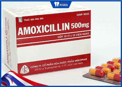 Kháng sinh chống viêm nướu Amoxicillin