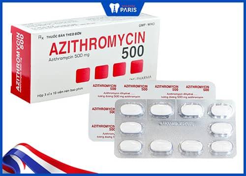 Thuốc uống trị viêm lợi, viêm nướu Azithromycin
