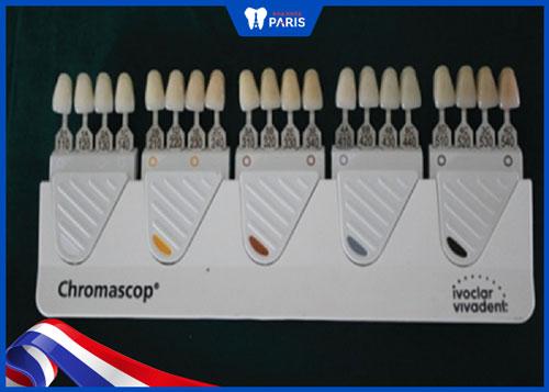 Bảng màu răng sứ Chromascop