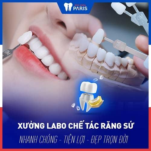 bọc sứ cho răng bị gãy