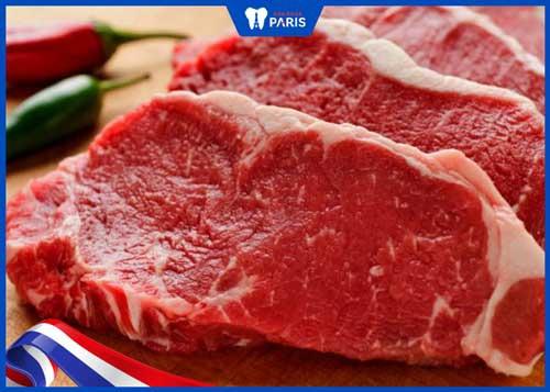 kiêng thịt bò sau phẫu thuật hàm hô