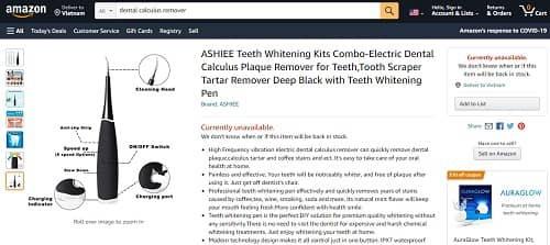 mua dụng cụ lấy cao răng tại nhà ở đâu