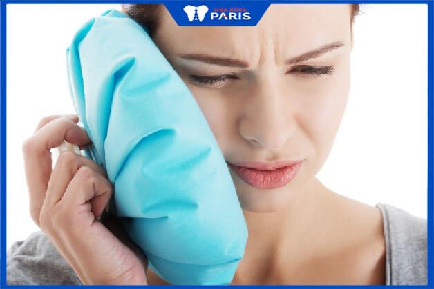 Nếu cơn đau kéo dài chúng ta dùng thêm phương pháp chườm lạnh để giảm đau
