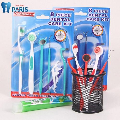 bộ dụng cụ vệ sinh răng miệng 8 món