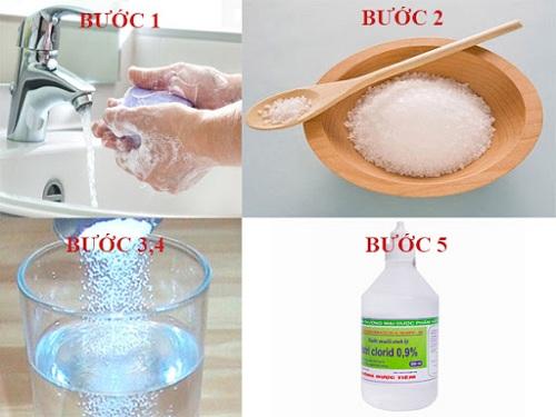 Cách pha nước muối súc miệng tại nhà