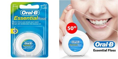 chỉ nha khoa oral b essential floss