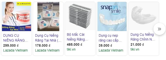 dụng cụ niềng răng tại nhà giá bao nhiêu