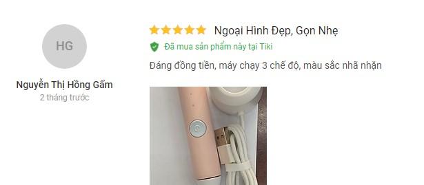 review bàn chải điện xiaomi so white ex3