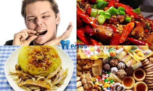 sưng mộng răng kiêng ăn gì