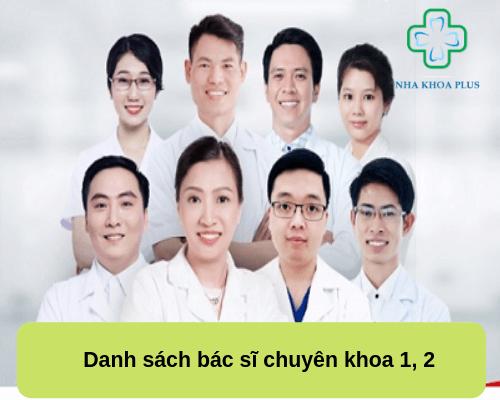 Danh sách các bác sĩ chuyên khoa 1, 2 tại Việt Nam